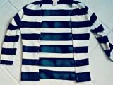 Original And Fabulous DIY Cutout Striped Shirt4