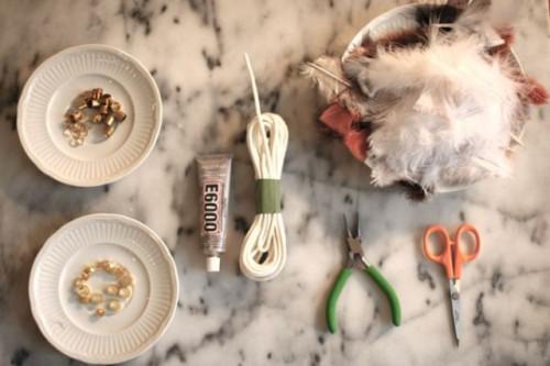 Original DIY Natural Feather Necklace