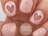 Original DIY Heart Nail Art For A Valentine's Day