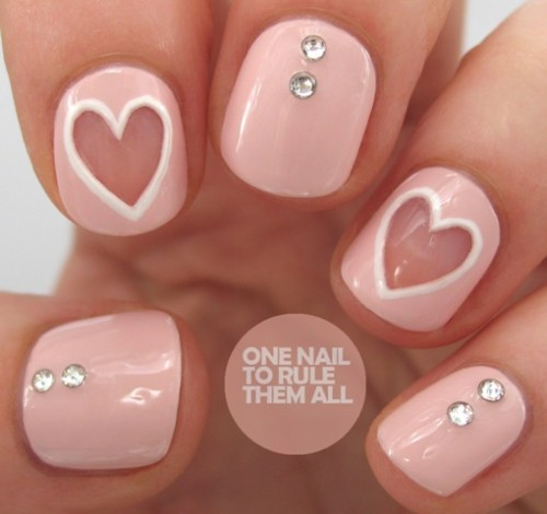 Original DIY Heart Nail Art For A Valentine's Day - Original DIY Heart Nail Art For A Valentine's Day - Styleoholic