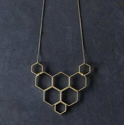 Original DIY Honeycomb Statement Necklace