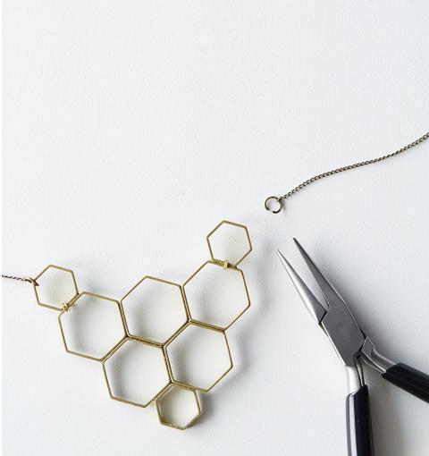 Original DIY Honeycomb Statement Necklace
