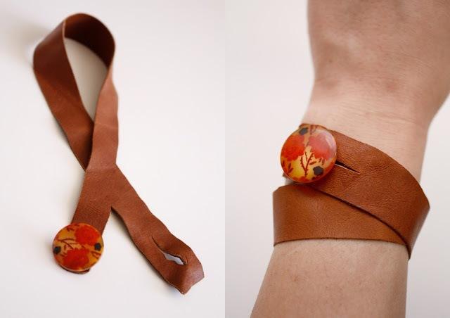 Picture Of Original DIY Leather Button Cuffs 5