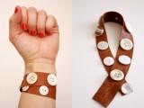 Original DIY Leather Button Cuffs6
