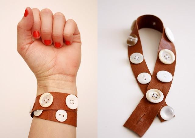 Picture Of Original DIY Leather Button Cuffs 6
