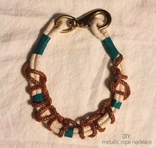 Original DIY Metallic Rope Necklace