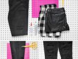Original DIY Patchwork Denim Jeans3