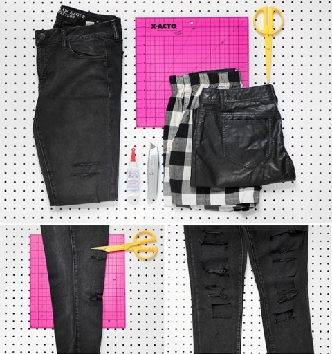 Picture Of Original DIY Patchwork Denim Jeans 3