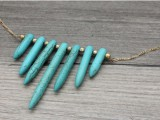 Original DIY Turquoise Spike Necklace3