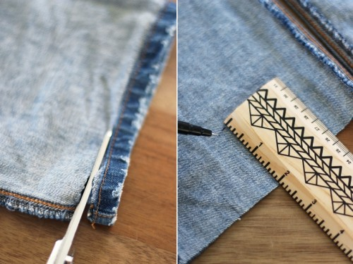 Original DIY Uneven Denim Hem