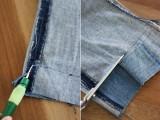 Original DIY Uneven Denim Hem4