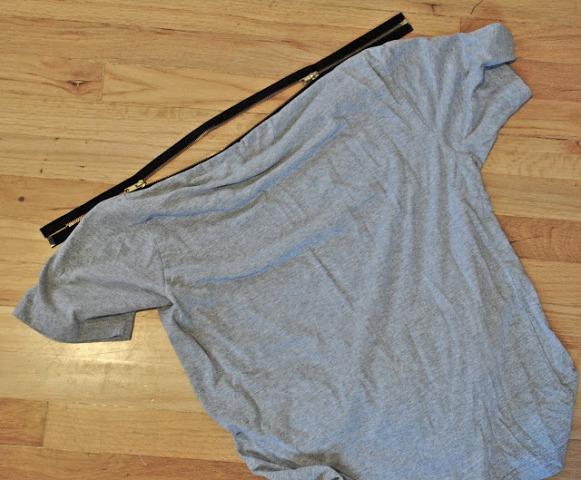 Picture Of Original DIY Zipper T shirt 4