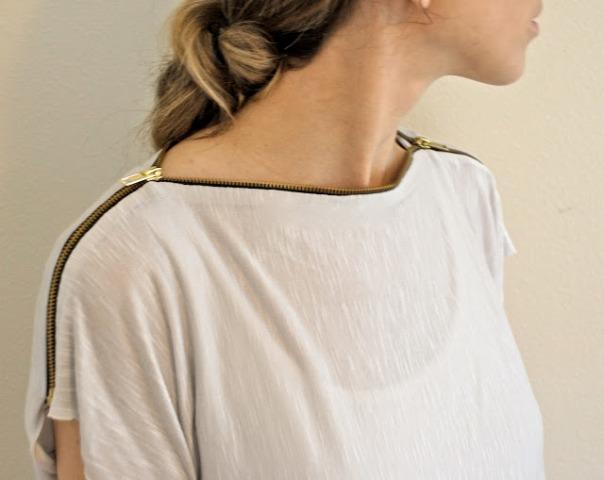 Picture Of Original DIY Zipper T shirt 8