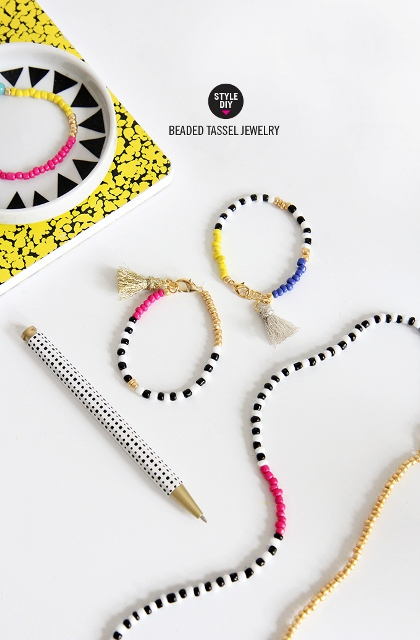 Fun And Colorful DIY Beaded Tassel Jewelry