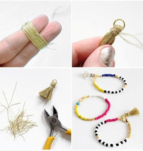 Fun And Colorful DIY Beaded Tassel Jewelry