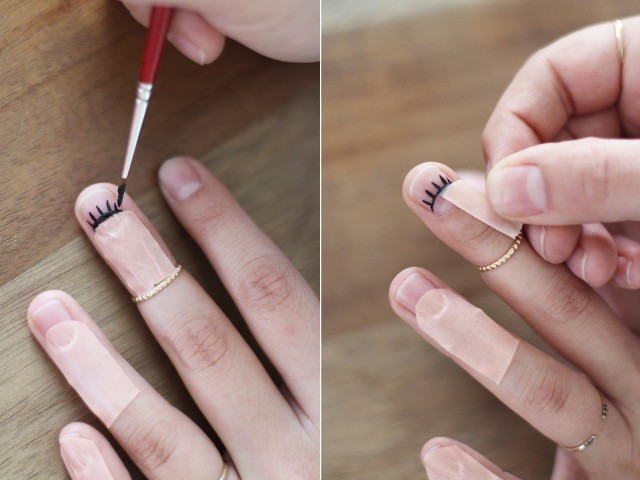 Picture Of Perfect DIY Eyelash Nail Art 6
