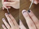 Perfect DIY Eyelash Nail Art7