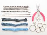Posh DIY Thread-Wrapped Bib Necklace With Ordinary Key Rings2