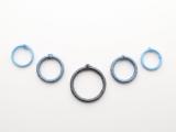 Posh DIY Thread-Wrapped Bib Necklace With Ordinary Key Rings6