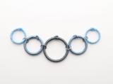 Posh DIY Thread-Wrapped Bib Necklace With Ordinary Key Rings7