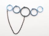 Posh DIY Thread-Wrapped Bib Necklace With Ordinary Key Rings8