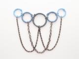 Posh DIY Thread-Wrapped Bib Necklace With Ordinary Key Rings9