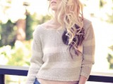 Pretty DIY Bow Sweater In the Back 10