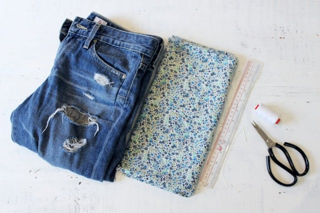 Picture Of Pretty DIY Turn Up Jeans 2