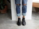 Pretty DIY Turn-Up Jeans6