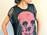 Rock'N'Roll DIY Fringe Sleeve T-shirt2