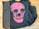 Rock'N'Roll DIY Fringe Sleeve T-shirt4