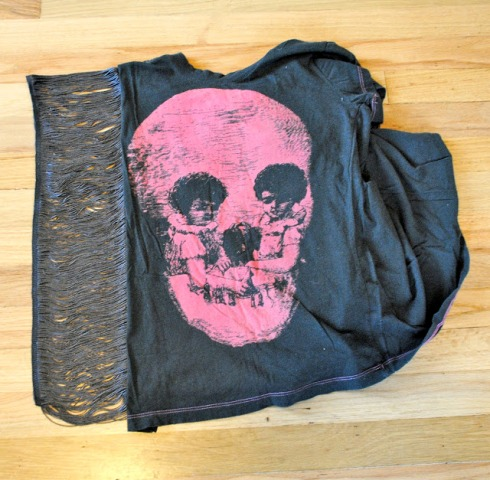 Picture Of Rock'N'Roll DIY Fringe Sleeve T shirt 4