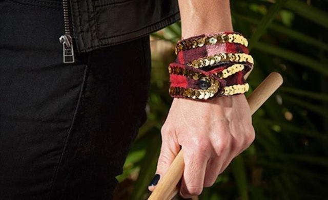 Picture Of Rockin' DIY Sequin Cuffs 2