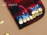Rockin' DIY Sequin Cuffs6