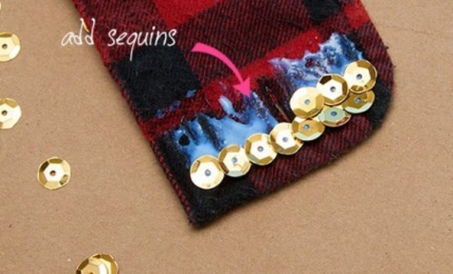 Rockin' DIY Plaid Sequin Cuffs