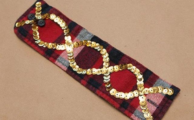 Picture Of Rockin' DIY Sequin Cuffs 7