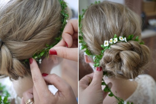 Romantic DIY Braided Chignon
