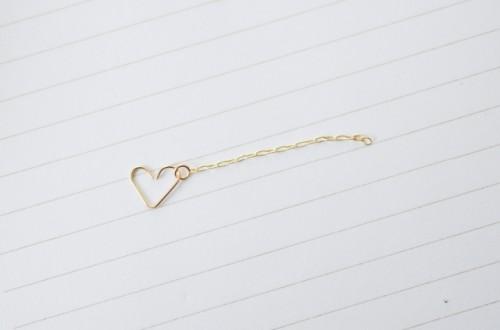 Romantic DIY Chain Heart Ring
