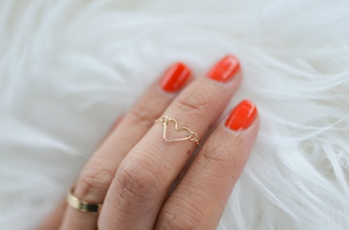 Romantic DIY Chain Heart Ring