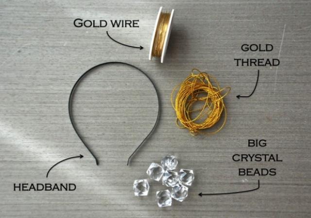 Picture Of Romantic DIY Crystal Headband 2