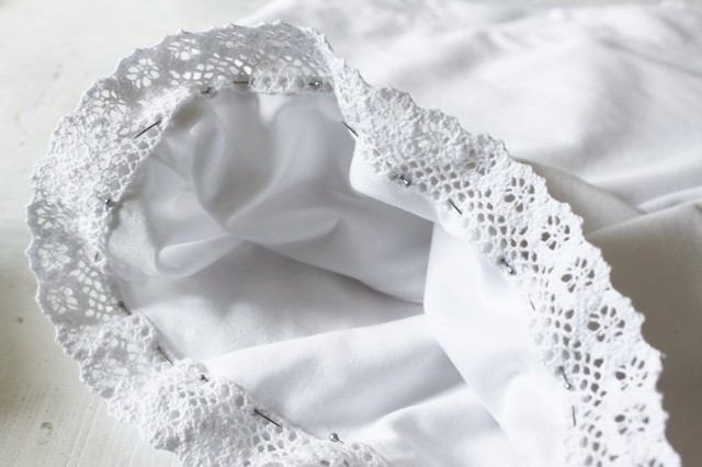 Picture Of Romantic DIY Lace Trimmed Top 4