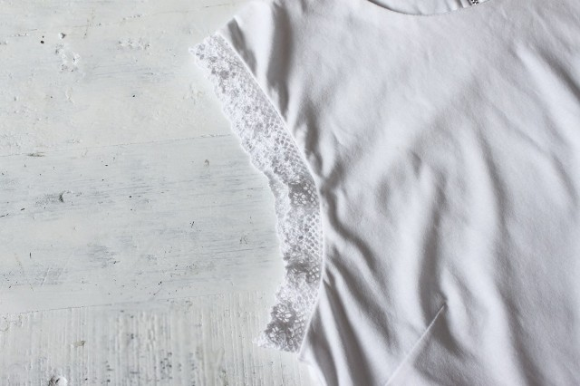 Picture Of Romantic DIY Lace Trimmed Top 6