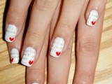 Romantic DIY Love Letter Nail Art3