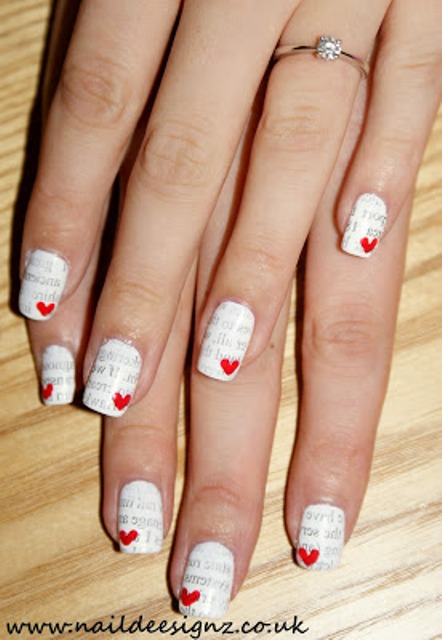 Picture Of Romantic DIY Love Letter Nail Art 3