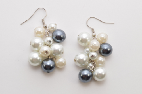 Romantic DIY Pearl Cluster Earrings