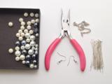 Romantic DIY Pearl Cluster Earrings2
