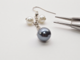 Romantic DIY Pearl Cluster Earrings8