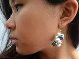 Romantic DIY Pearl Cluster Earrings9