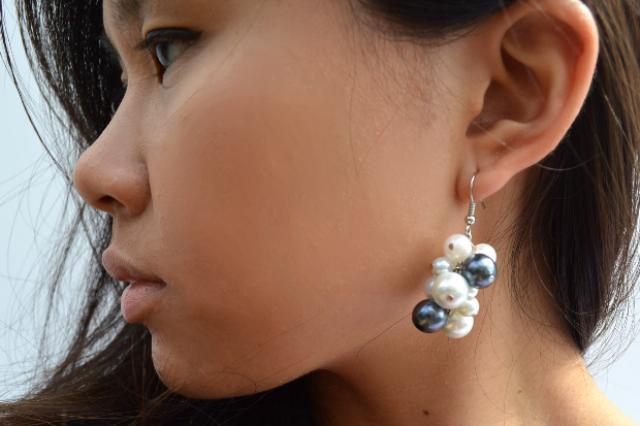 Picture Of Romantic DIY Pearl Cluster Earrings 9
