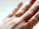 Simple And Elegant DIY Wire Bow Ring3